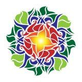 Ornamental rose mandala royalty free illustration