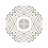 Ornamental  rosette in arabic style Royalty Free Stock Image