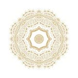 Ornamental  rosette d in arabic style Royalty Free Stock Images