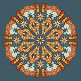 Ornamental round abstract pattern Stock Photo