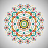 Ornamental round bright fashion pattern in aztec Royalty Free Stock Photos