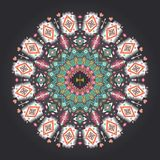 Ornamental round colorful geometric pattern in Stock Images