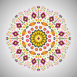 Ornamental round colorful geometric pattern in Stock Image