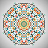Ornamental round colorful geometric pattern in Royalty Free Stock Photography