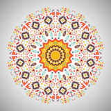 Ornamental round colorful geometric pattern in Royalty Free Stock Photo