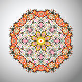 Ornamental round colorful geometric pattern in aztec style Royalty Free Stock Images