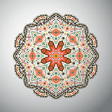 Ornamental round colorful geometric pattern in aztec style Stock Image