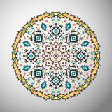 Ornamental round colorful geometric pattern in aztec style Stock Images