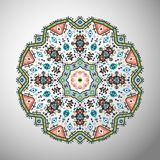 Ornamental round colorful geometric pattern in aztec style Stock Photo