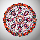 Ornamental round colorful geometric pattern in aztec style Royalty Free Stock Photos