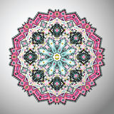 Ornamental round colorful geometric pattern in aztec style Stock Photography