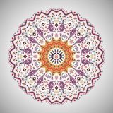 Ornamental round colorful geometric pattern in Royalty Free Stock Images