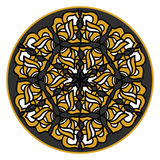 Ornamental round design element. Hand drawn mandala.Vector illustration Stock Images