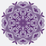 Ornamental round entwined pattern Stock Image