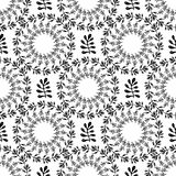 Ornamental round floral background. Seamless pattern with leaves for your design wallpapers, pattern fills, web page backgrounds, Royalty Free Stock Photography