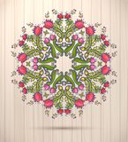 Ornamental round floral lace kaleidoscopic spring pattern, mandala. Royalty Free Stock Images