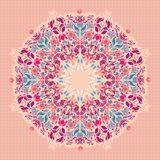 Ornamental round floral  lace pattern. Stock Image