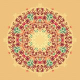 Ornamental round floral  lace pattern. Stock Images