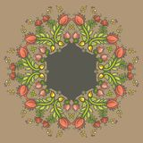 Ornamental round floral lace pattern Stock Photos