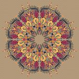 Ornamental round floral lace pattern Stock Image