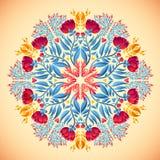 Ornamental round floral lace pattern. kaleidoscopic spring pattern, mandala. Stock Photo