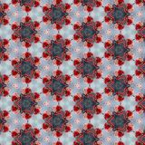 Ornamental round FLORAL lace pattern in red Royalty Free Stock Photos