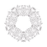 Ornamental round floral pattern. Decorative line art frame for design template. Elegant vector element , place text. Royalty Free Stock Image