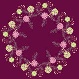 Ornamental round floral pattern Stock Image