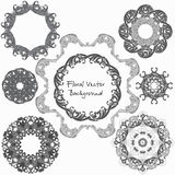 Ornamental round floral pattern. Set ornaments. Vector illustrat. Ion Royalty Free Stock Photography