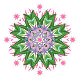 Ornamental round floral pattern. Stock Photos