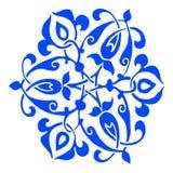 11 Ornamental round flower silhouette pattern Stock Photos