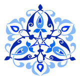 13 Ornamental round flower silhouette pattern Stock Image