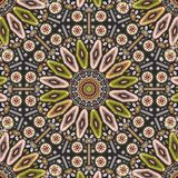 Ornamental round geometric native style pattern. Stock Photos