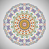 Ornamental round geometric pattern in aztec style Stock Photography
