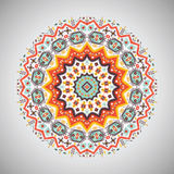 Ornamental round geometric pattern in aztec style Royalty Free Stock Photos