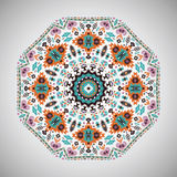 Ornamental round geometric pattern in aztec style Royalty Free Stock Image