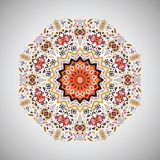 Ornamental round geometric pattern in aztec style Stock Photos