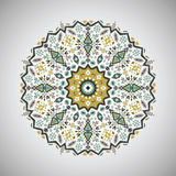 Ornamental round geometric pattern in aztec style Royalty Free Stock Images