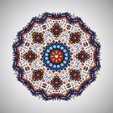 Ornamental round geometric pattern in aztec style Stock Photo