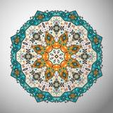 Ornamental round geometric pattern in aztec style Stock Photos