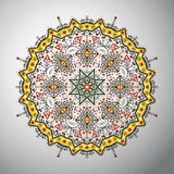 Ornamental round geometric pattern in latin american style Royalty Free Stock Photos