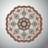 Ornamental round geometric pattern in latin american style Stock Photography