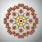 Ornamental round geometric pattern in latin american style Royalty Free Stock Image