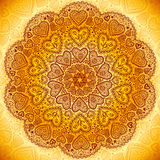 Ornamental round hearts pattern in Indian style Royalty Free Stock Photography