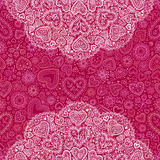 Ornamental round hearts pattern in Indian style. Ornamental round hearts pattern with details in Indian style Stock Image