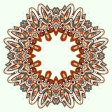 Ornamental round lace. Aztec. Stock Photos