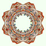 Ornamental round lace. Aztec. Stock Photo