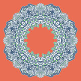 Ornamental round lace. Aztec. Stock Images