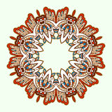 Ornamental round lace. Aztec. Royalty Free Stock Images