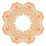 Ornamental round lace. Aztec. Royalty Free Stock Photography